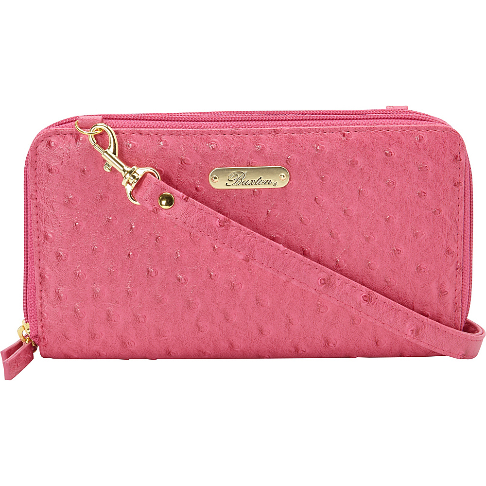 Buxton Ostrich Brights Ultimate Organizer Coral - Buxton Womens Wallets - Women's SLG, Women's Wallets