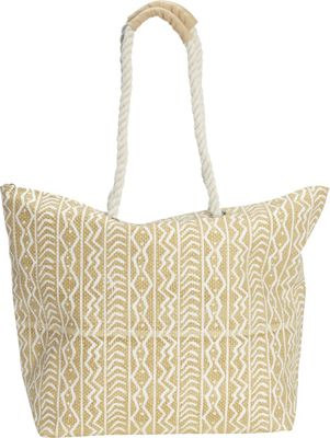 Magid Tribal Rope Tote Taupe - Magid Fabric Handbags