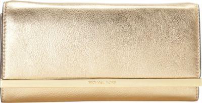 MICHAEL Michael Kors Lana Clutch Pale Gold - MICHAEL Michael Kors Designer Handbags