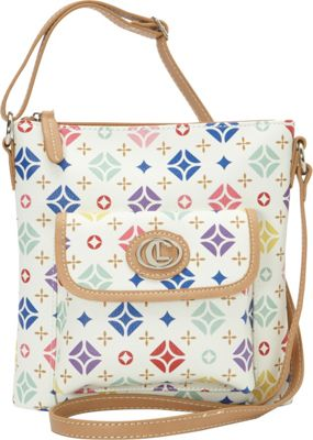 Aurielle-Carryland Starburst Signature Mini Xbody White - Aurielle-Carryland Manmade Handbags