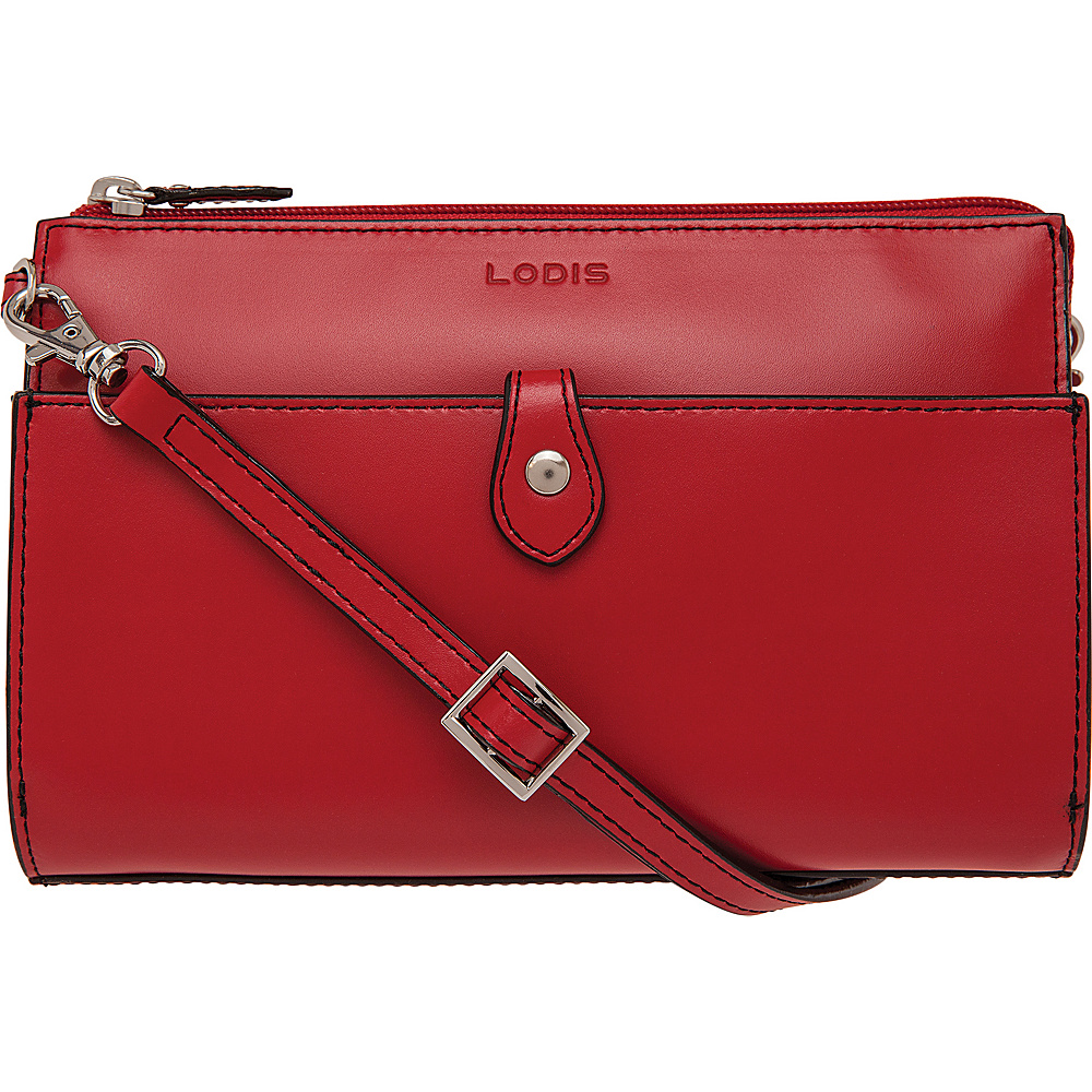 Lodis Audrey Vicky RFID Convertible Crossbody New Red - Lodis Leather Handbags - Handbags, Leather Handbags