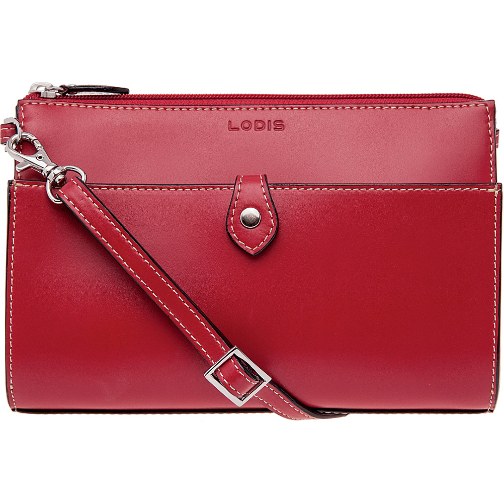 Lodis Audrey Vicky Convertible Crossbody Red Lodis Leather Handbags