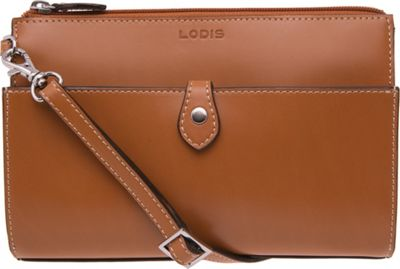 Lodis Audrey Vicky Convertible Crossbody Toffee/Chocolate - Lodis Leather Handbags