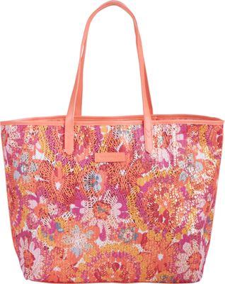 Vera Bradley Summer Sparkle Tote Pixie Blooms - Vera Bradley Fabric Handbags