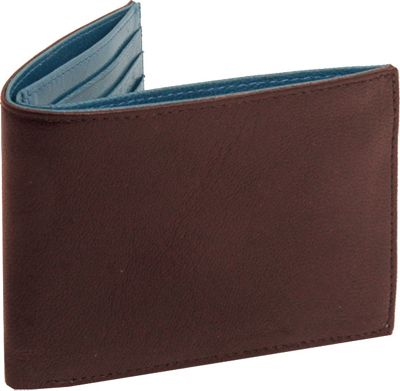 TUSK LTD Leonardo Slim Billfold Chocolate Blue - TUSK LTD Mens Wallets
