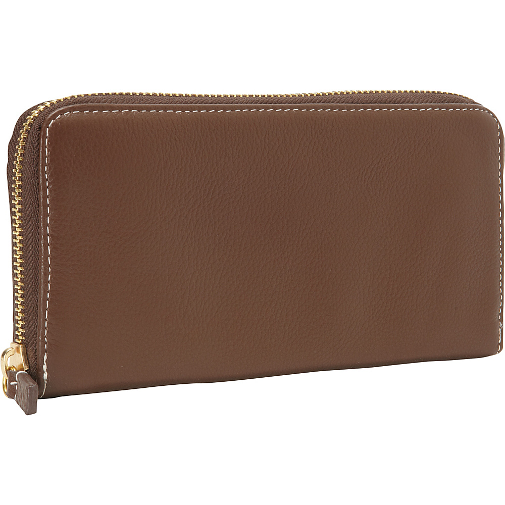Clava Zippy Clutch Wallet Brown Clava Women s Wallets