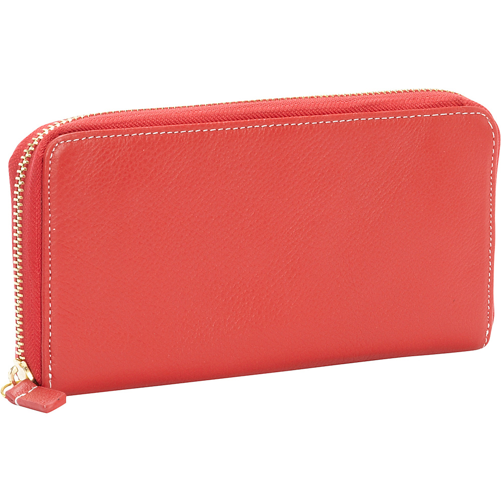 Clava Zippy Clutch Wallet Red Clava Women s Wallets