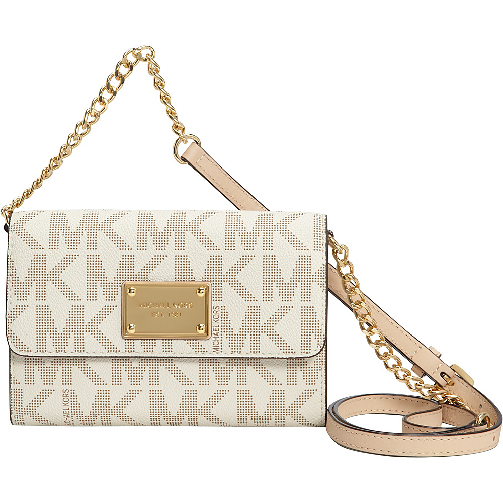 MICHAEL Michael Kors Jet Set Large Phone Crossbody - Logo Vanilla - MICHAEL Michael Kors Designer Handbags