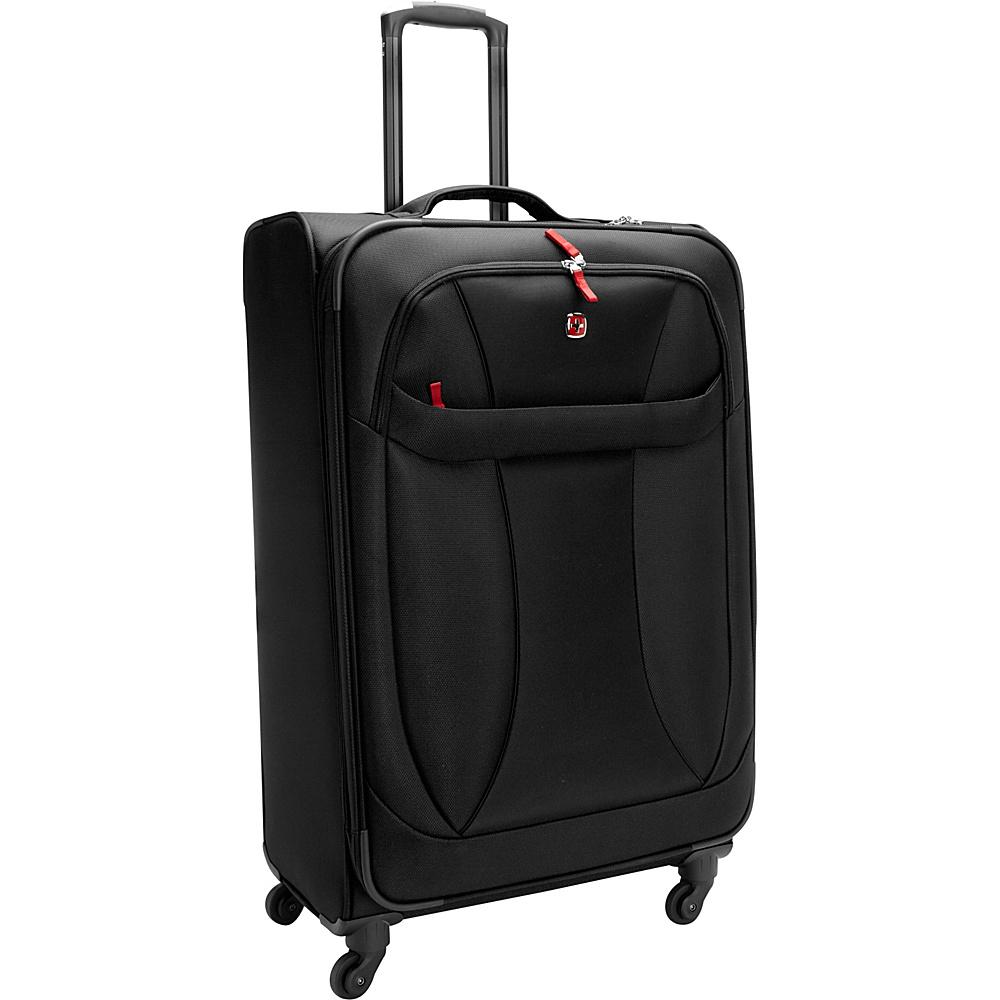 "Wenger Travel Gear Lightweight 29"" Spinner Black - Wenger Travel Gear Softside Checked"