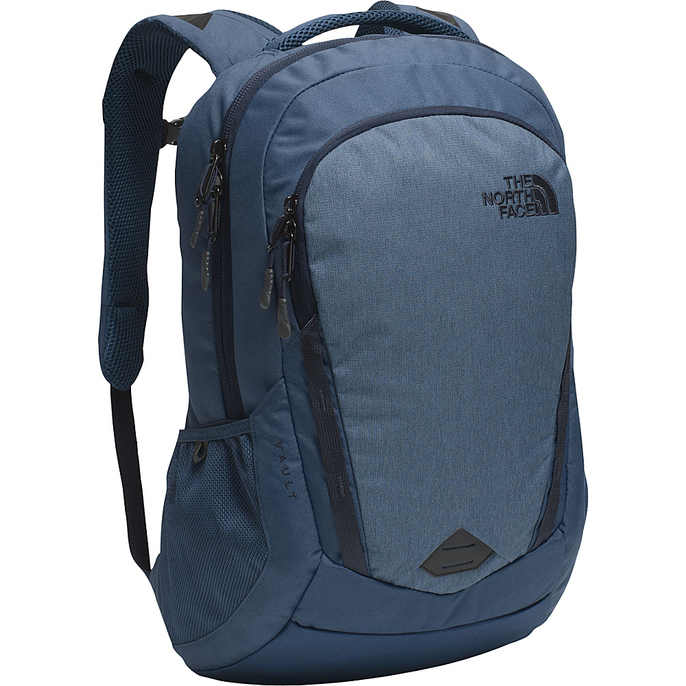 The North Face Vault Laptop Backpack Shady Blue Heather Urban Navy The North Face Business Laptop Backpacks