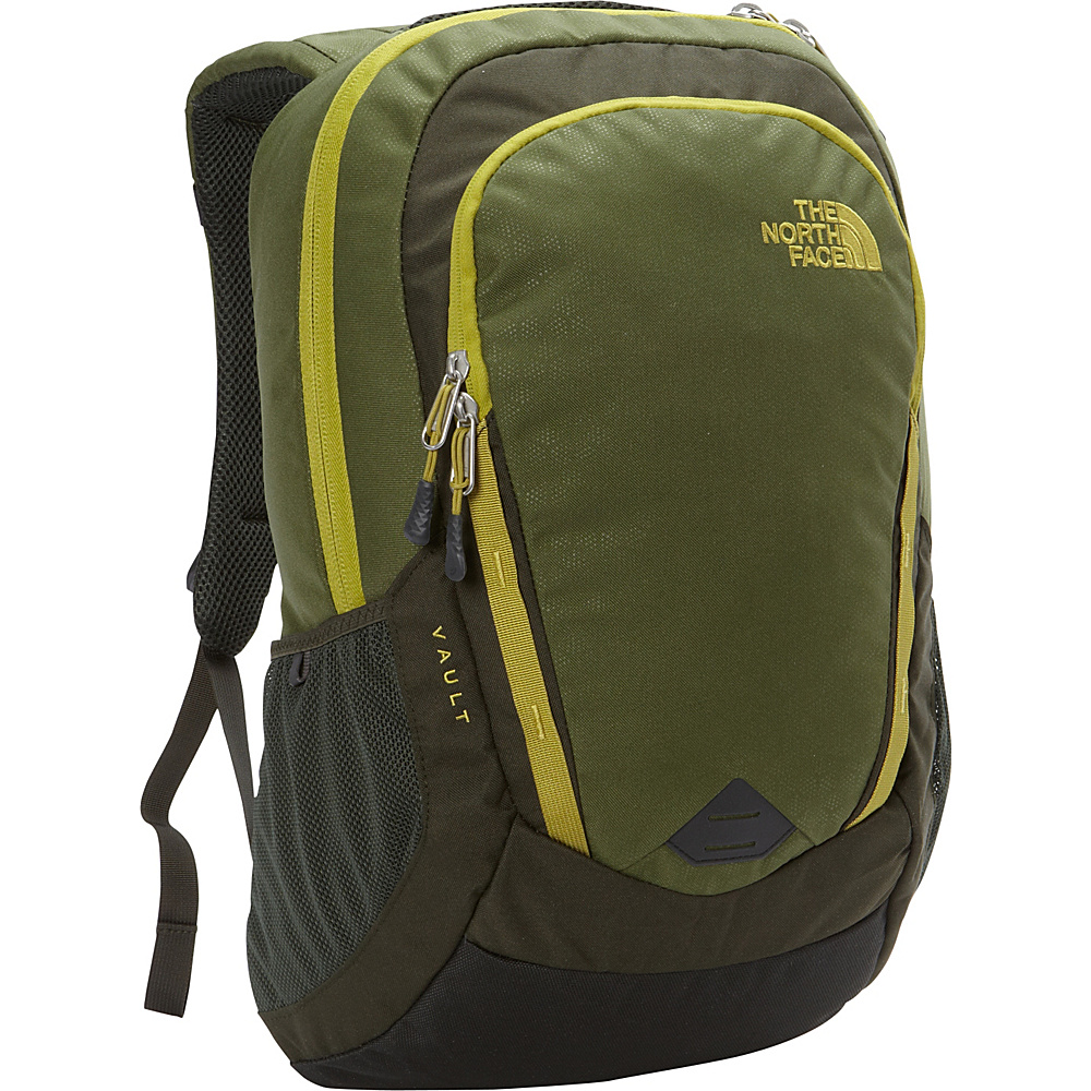The North Face Vault Laptop Backpack Terrarium Green Emboss Lemongrass Green The North Face Business Laptop Backpacks