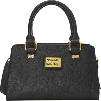 Loungefly Hello Kitty Floral Embossed Black Fashion Cross Body Bag New | EBay