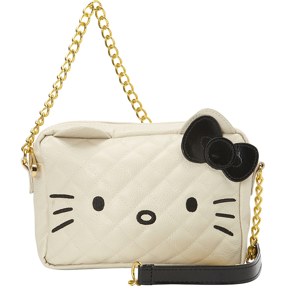 8c296931b5 Loungefly Hello Kitty Cream Black Face W Chain X-Body Bag White -