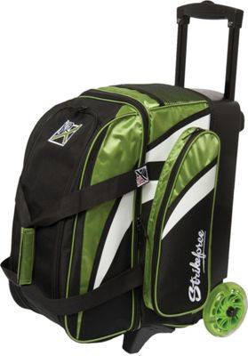 KR Strikeforce Bowling Cruiser Smooth Double Bowling Ball Roller Bag Lime/White/Black - KR Strikeforce Bowling Bowling Bags
