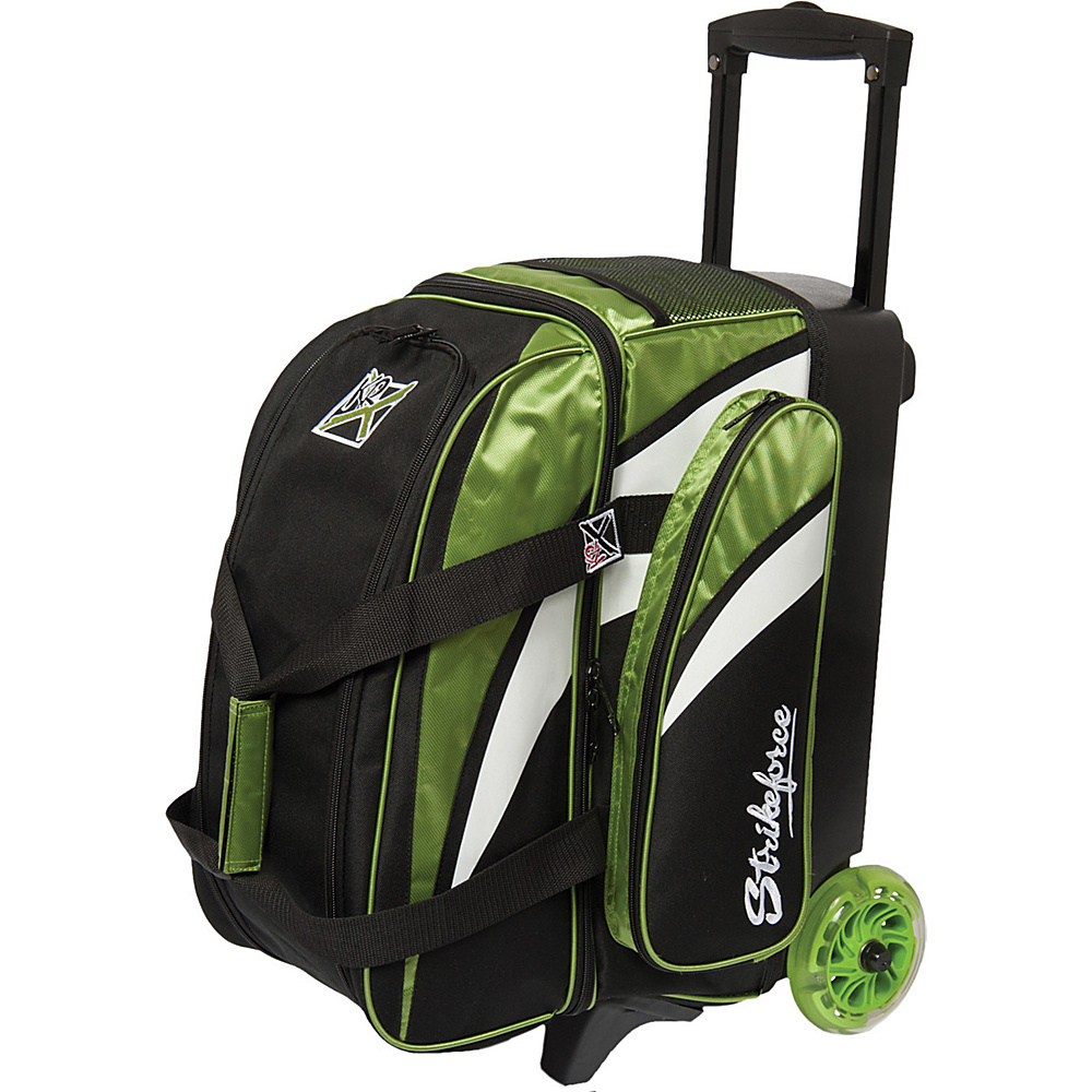 KR Strikeforce Bowling Cruiser Smooth Double Bowling Ball Roller Bag Lime White Black KR Strikeforce Bowling Bowling Bags