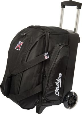 KR Strikeforce Bowling Cruiser Smooth Double Bowling Ball Roller Bag Black - KR Strikeforce Bowling Bowling Bags