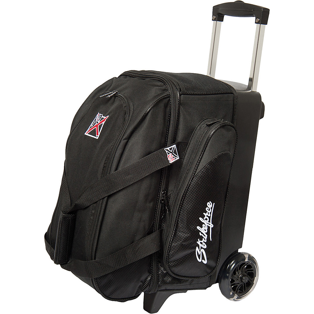 KR Strikeforce Bowling Cruiser Smooth Double Bowling Ball Roller Bag Black KR Strikeforce Bowling Bowling Bags