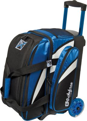 KR Strikeforce Bowling Cruiser Smooth Double Bowling Ball Roller Bag Royal/White/Black - KR Strikeforce Bowling Bowling Bags