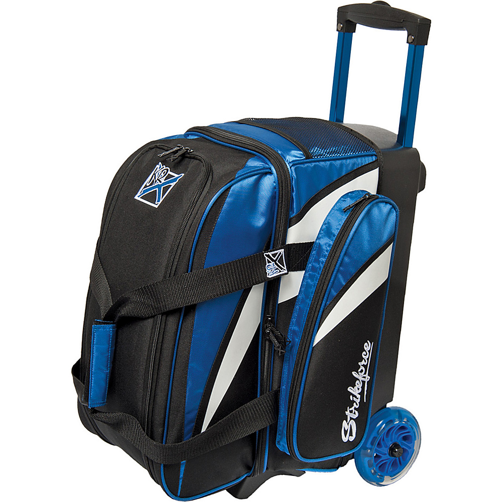 KR Strikeforce Bowling Cruiser Smooth Double Bowling Ball Roller Bag Royal White Black KR Strikeforce Bowling Bowling Bags