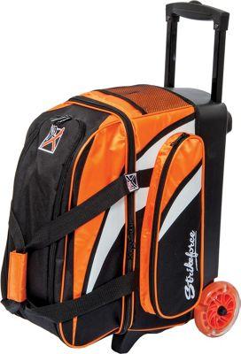 KR Strikeforce Bowling Cruiser Smooth Double Bowling Ball Roller Bag Orange/White/Black - KR Strikeforce Bowling Bowling Bags