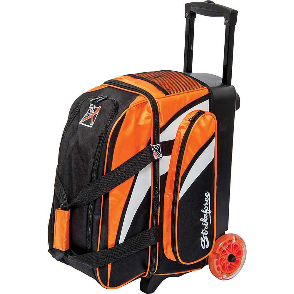 KR Strikeforce Bowling Cruiser Smooth Double Bowling Ball Roller Bag Orange White Black KR Strikeforce Bowling Bowling Bags