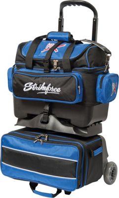 KR Strikeforce Bowling Royal Flush Four Bowling Ball Roller Bag Royal/Black - KR Strikeforce Bowling Bowling Bags