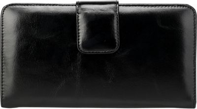 Vicenzo Leather Envy Distressed Leather Coin Purse / Women's Wallet Black - Vicenzo Leather Designer Handbags