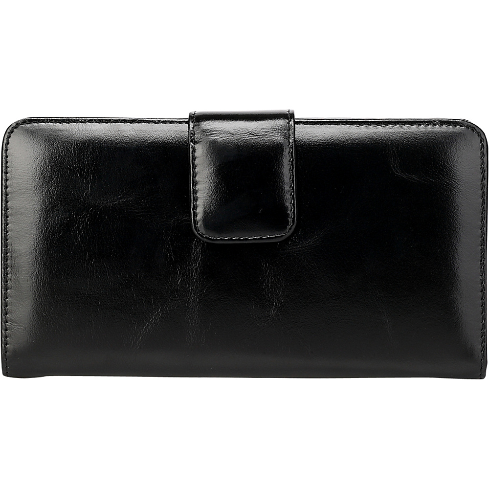 Vicenzo Leather Envy Distressed Leather Coin Purse Women s Wallet Black Vicenzo Leather Women s Wallets