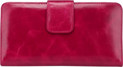 Vicenzo Leather Envy Distressed Leather Coin Purse / Women's Wallet Rose Red - Vicenzo Leather Designer Handbags