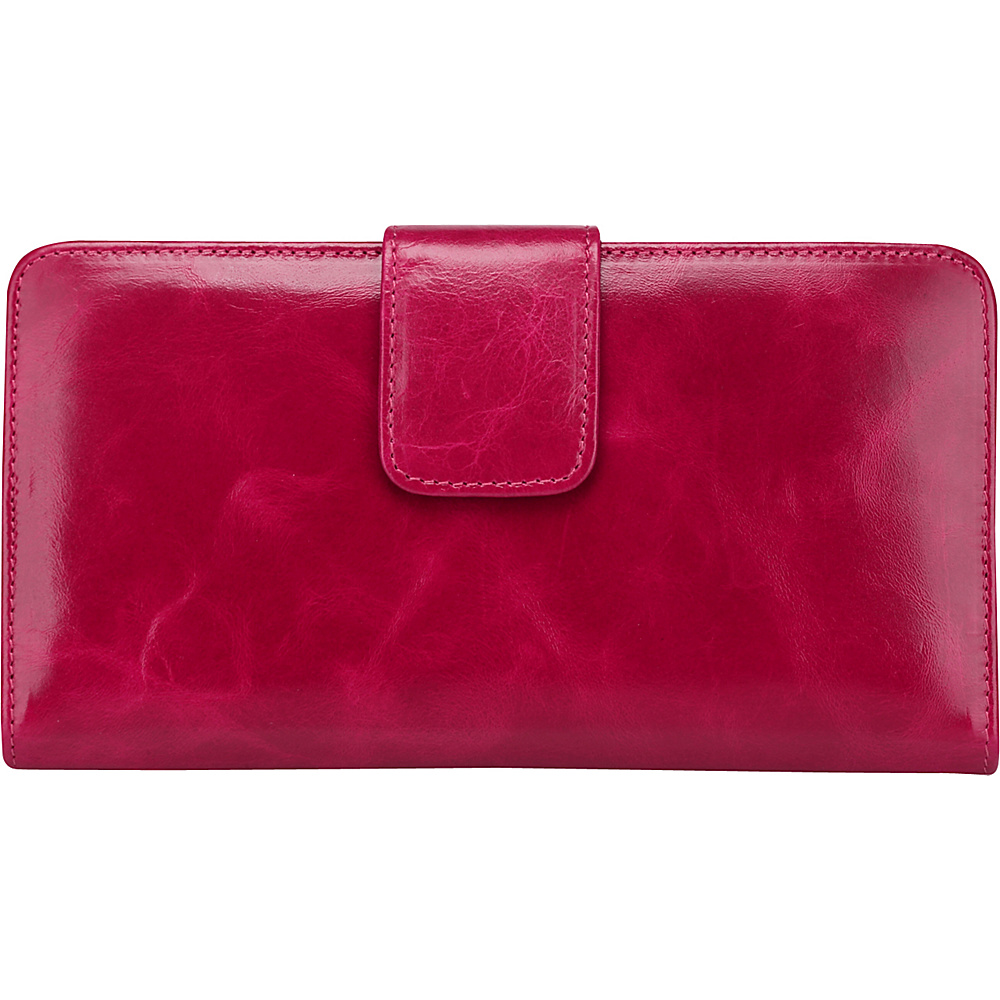 Vicenzo Leather Envy Distressed Leather Coin Purse / Women's Wallet Rose Red - Vicenzo Leather Women's Wallets