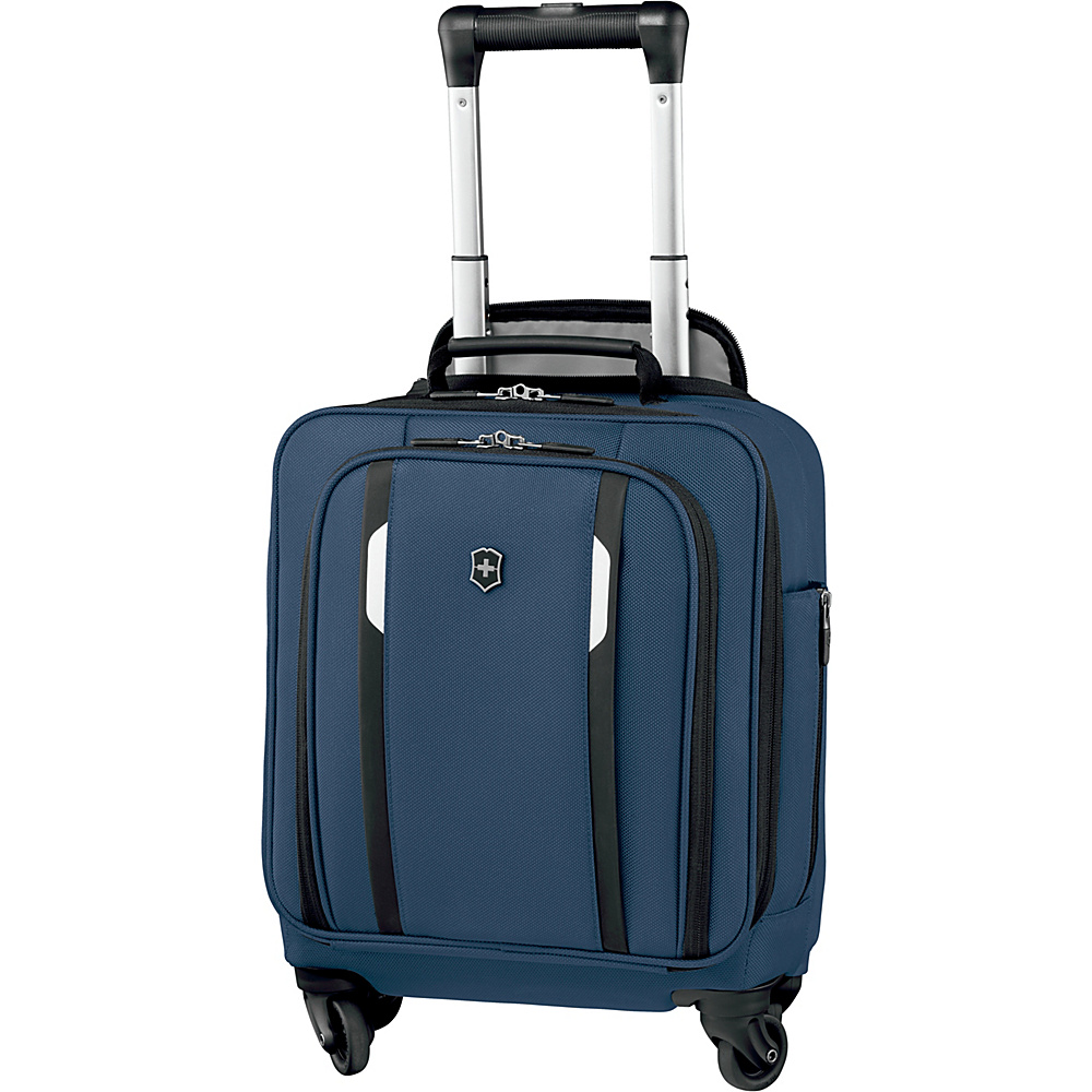 Victorinox Werks Traveler 5.0 WT Wheeled Underseat Tote Navy Blue - Victorinox Softside Carry-On