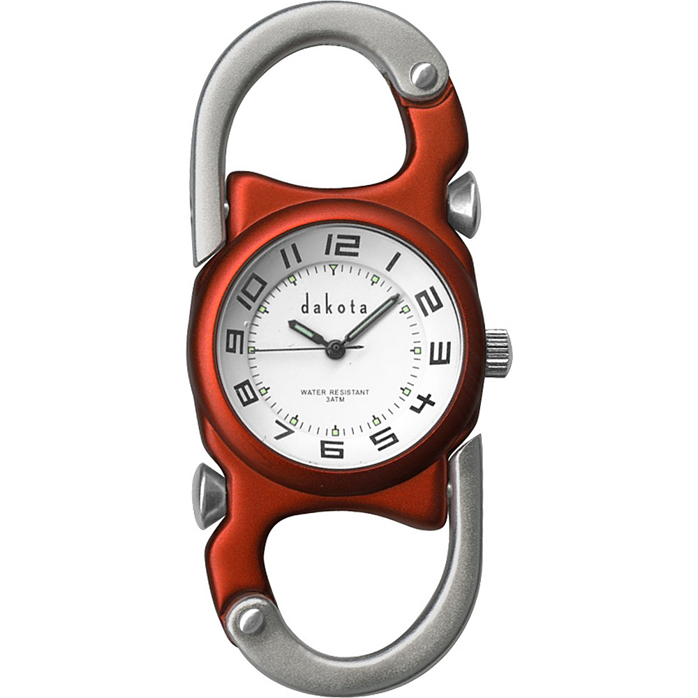Dakota Watch Company Double Clip Watch Orange With Silver Dakota Watch Company Watches
