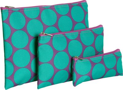 Wildkin Big Dot Aqua 3-pc Organizer Big Dots Aqua - Wildkin Packing Aids