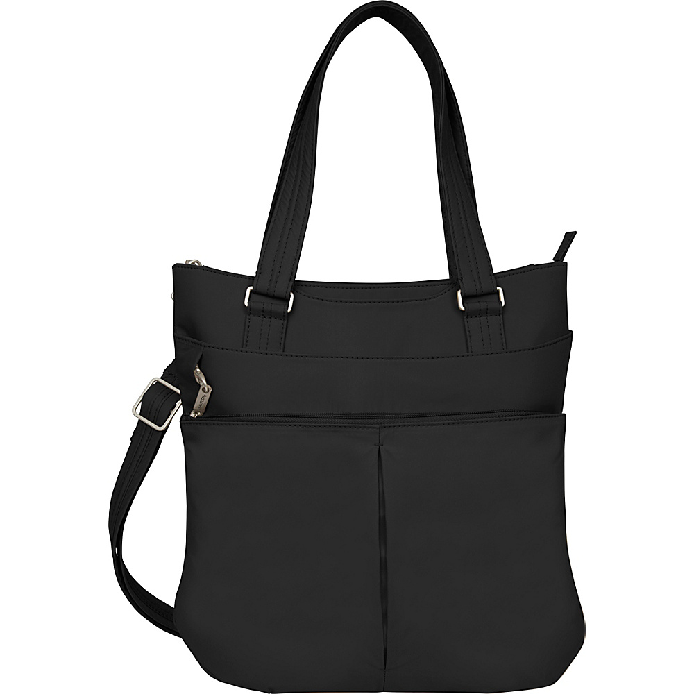 Travelon Anti-theft Classic Light Tote Black/Gray - Travelon Fabric Handbags - Handbags, Fabric Handbags