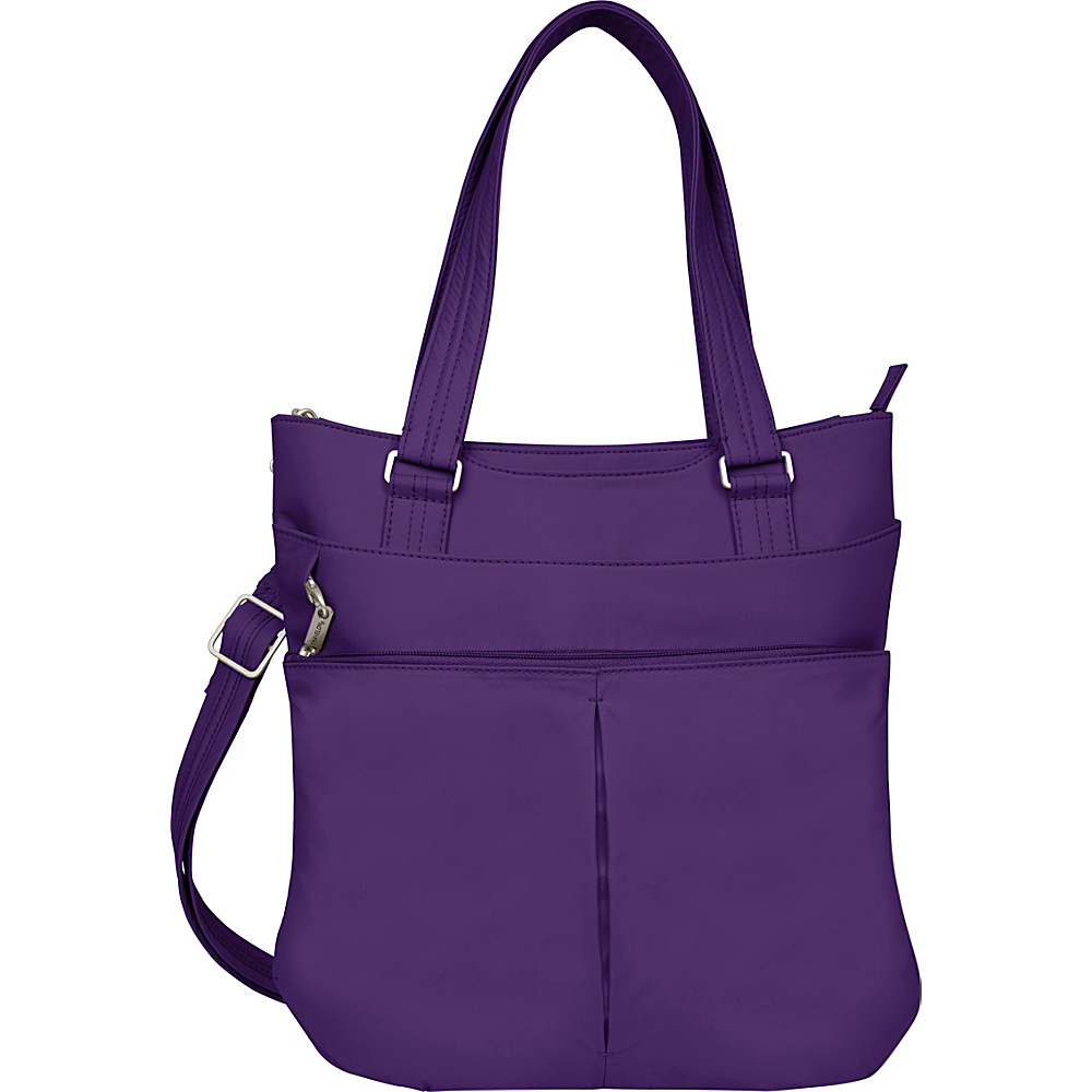 Travelon Anti-theft Classic Light Tote Purple/Sand - Travelon Fabric Handbags - Handbags, Fabric Handbags