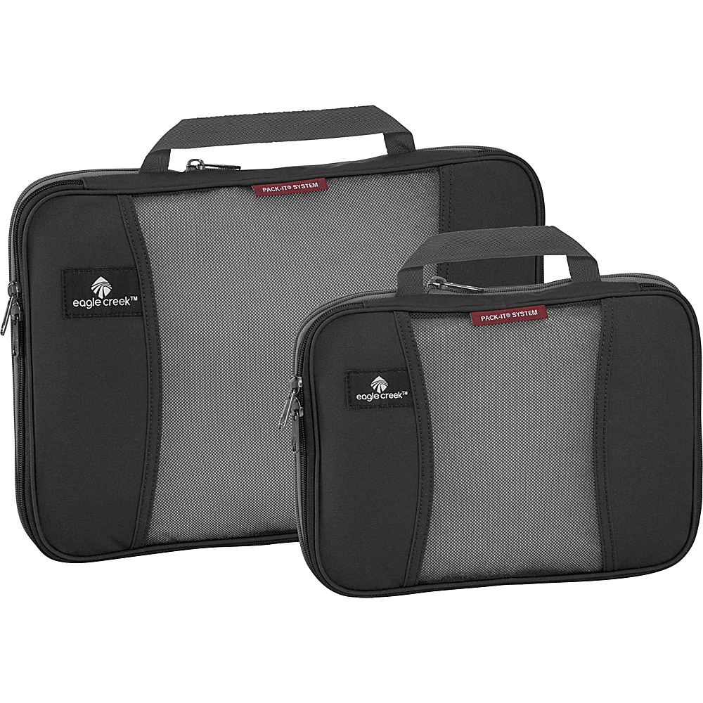 Eagle Creek Pack-It Original 2-Piece Compression Cube Set Black - Eagle Creek Travel Organizers - Travel Accessories, Travel Organizers