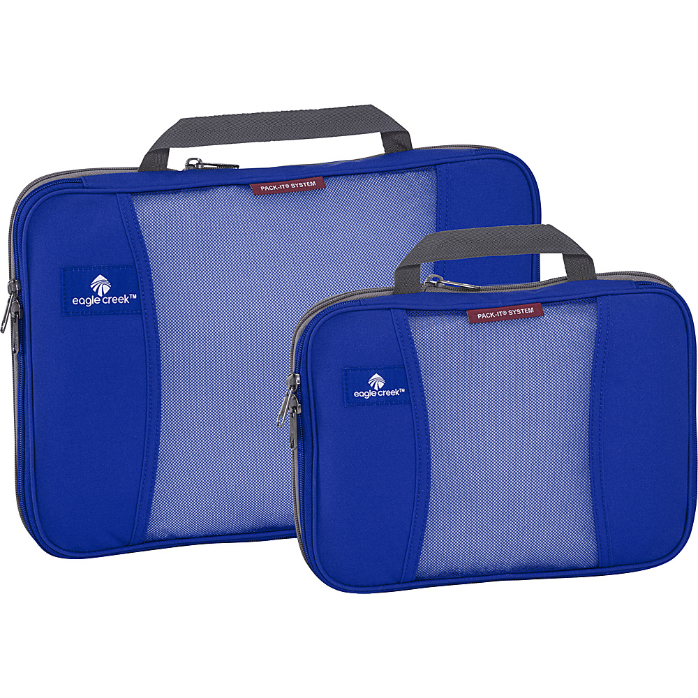 Eagle Creek Pack-It Original 2-Piece Compression Cube Set Blue Sea - Eagle Creek Travel Organizers - Travel Accessories, Travel Organizers