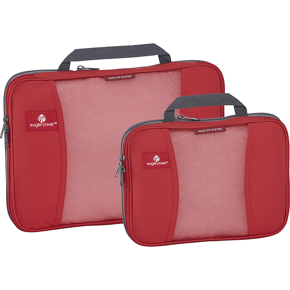 Eagle Creek Pack-It Original 2-Piece Compression Cube Set Red Fire - Eagle Creek Travel Organizers - Travel Accessories, Travel Organizers