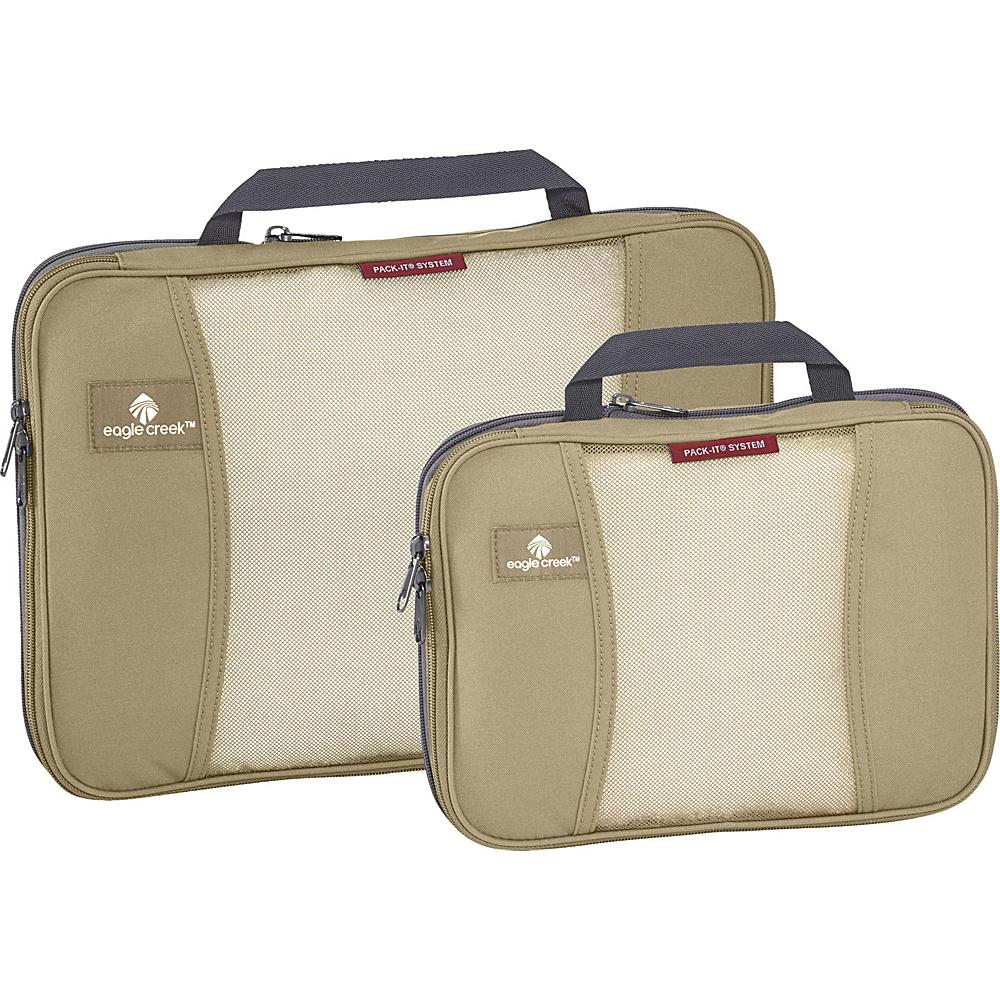 Eagle Creek Pack-It Original 2-Piece Compression Cube Set Tan - Eagle Creek Travel Organizers - Travel Accessories, Travel Organizers