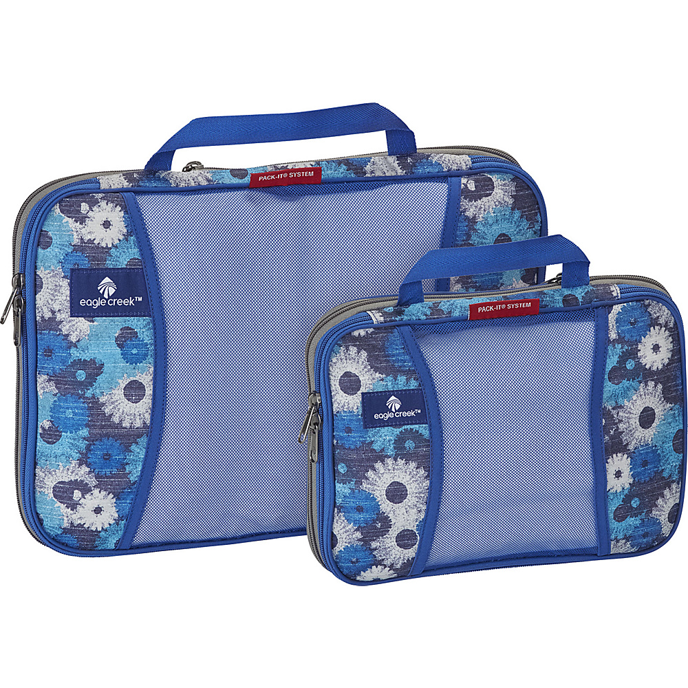 Eagle Creek Pack-It Original 2-Piece Compression Cube Set Daisy Chain Blue - Eagle Creek Travel Organizers - Travel Accessories, Travel Organizers