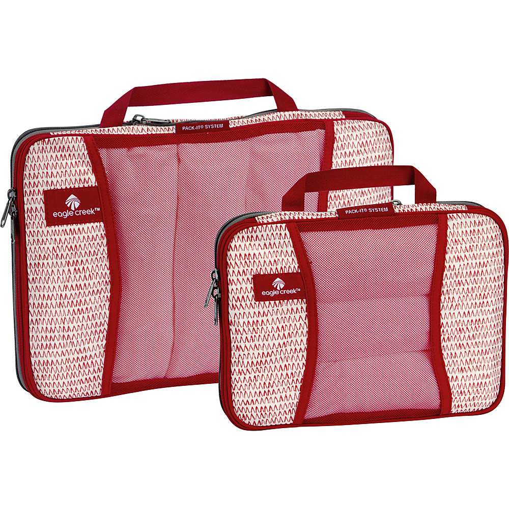 Eagle Creek Pack-It Original 2-Piece Compression Cube Set Repeak Red - Eagle Creek Travel Organizers - Travel Accessories, Travel Organizers