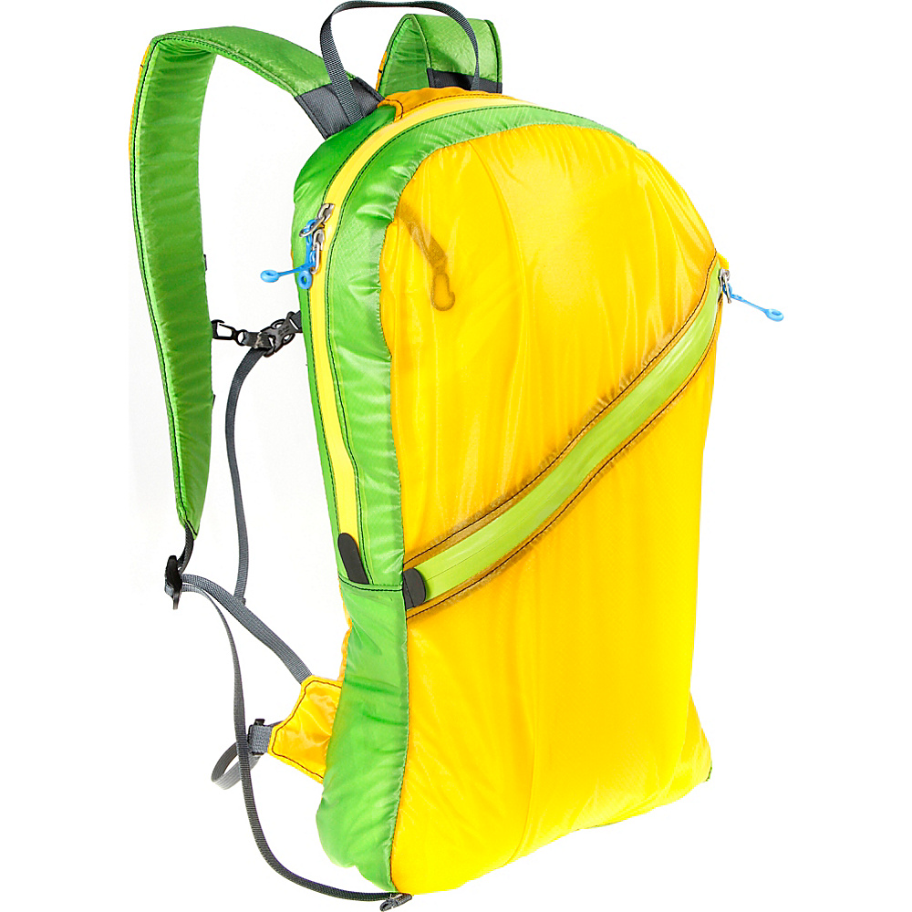 Granite Gear Go and Stow Travel Pack Yellow Green Granite Gear Day Hiking Backpacks
