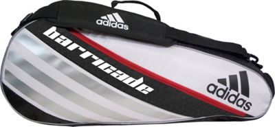 adidas Barricade IV Tour 3 Racquet Bag White/Black/Scarlet - adidas Other Sports Bags