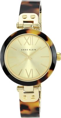 Anne Klein Watches Anne Klein Watches Gold-Tone and Tortoise Bangle Bracelet Watch Tortoise - Anne Klein Watches Watches