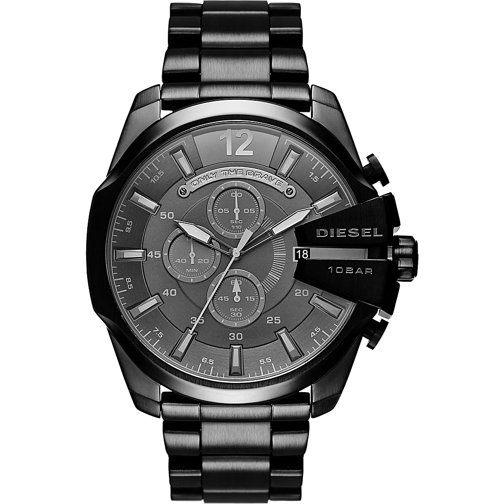 Diesel Watches Mega Chief Watch Black Black Diesel Watches Watches