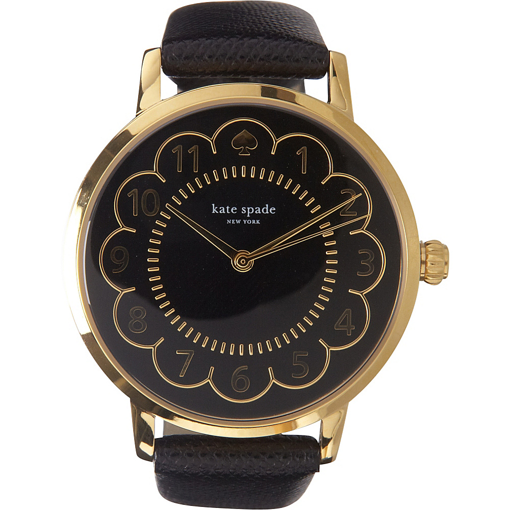kate spade watches Scallop Metro Watch Black kate spade watches Watches