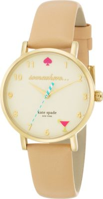 kate spade watches 5 O'Clock Metro Tan - kate spade watches Watches