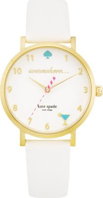 kate spade watches 5 O'Clock Metro White - kate spade watches Watches