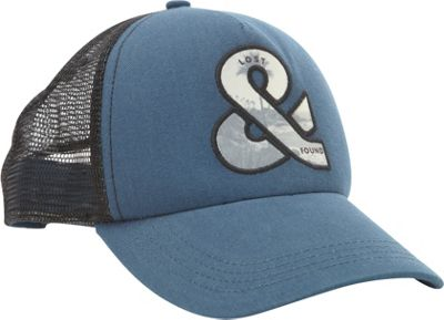 Life is good Square Mesh Trucker Hat Pacific Blue - Life is good Hats