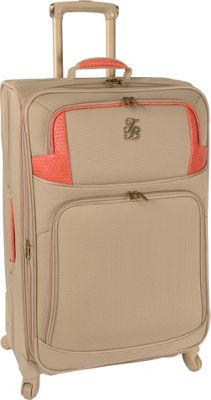 Tommy Bahama Belle of the Beach 28 inch Expandable Spinner Champagne/Coral - Tommy Bahama Softside Checked